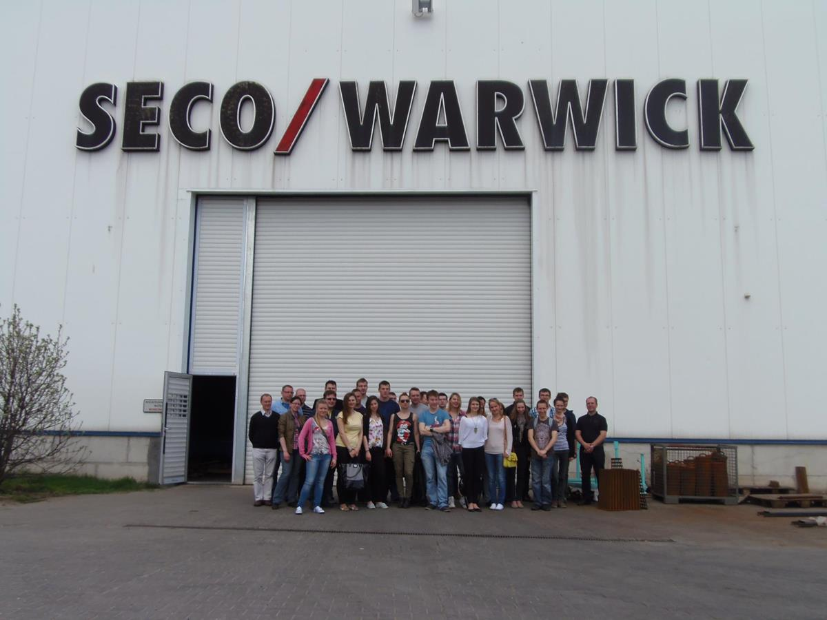 """Poznań Univeristy of Technology"" students visited SECO/WARWICK Europe"