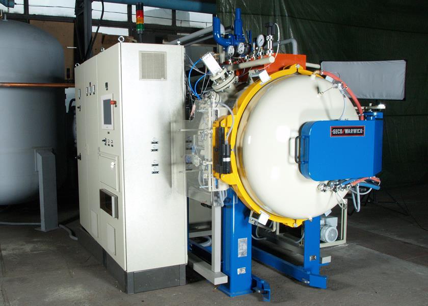 SecoWarwick's 12-bar vacuum furnace