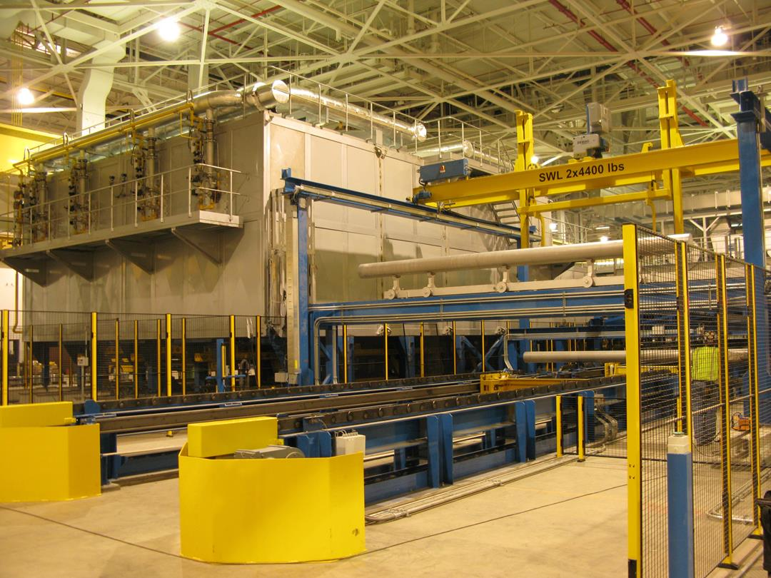 CONTINUOUS HOMOGENIZING LINE FOR RUSSIAN POTENTATE OF ALUMINIUM MARKET