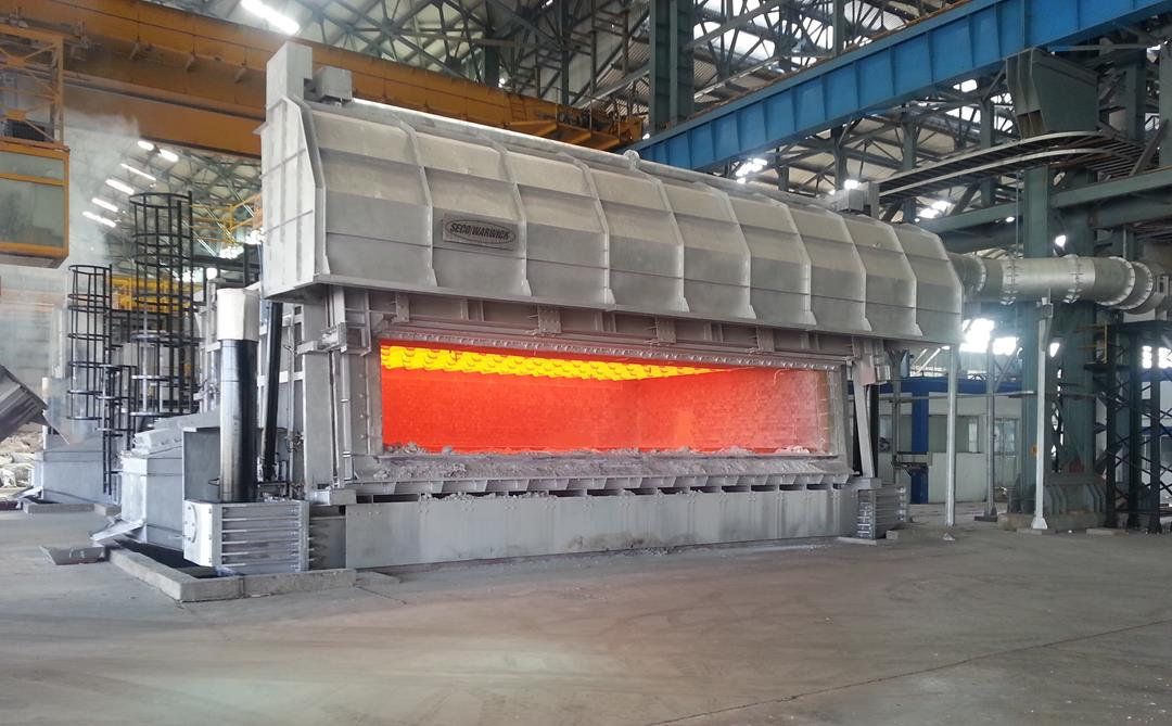 SECOWARWICK Allied Commissions Two 60 Metric Ton Melting and Holding Furnaces