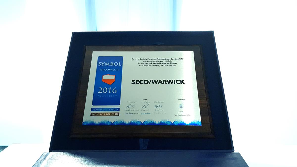 SECOWARWICK a Symbol of Innovation 2016