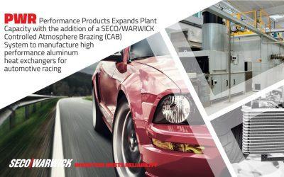 PWR Performance Products zwiększa swoją moc wytwórczą dzięki linii SECO/WARWICK do lutowania w atmosferach ochronnych (CAB)