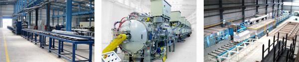heat treatment furnaces production line