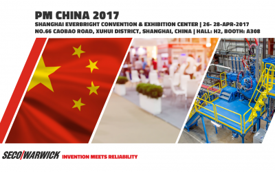 SECO/WARWICK to present Metal Powder Production Systems at Powder Metallurgy China 2017 EXPO