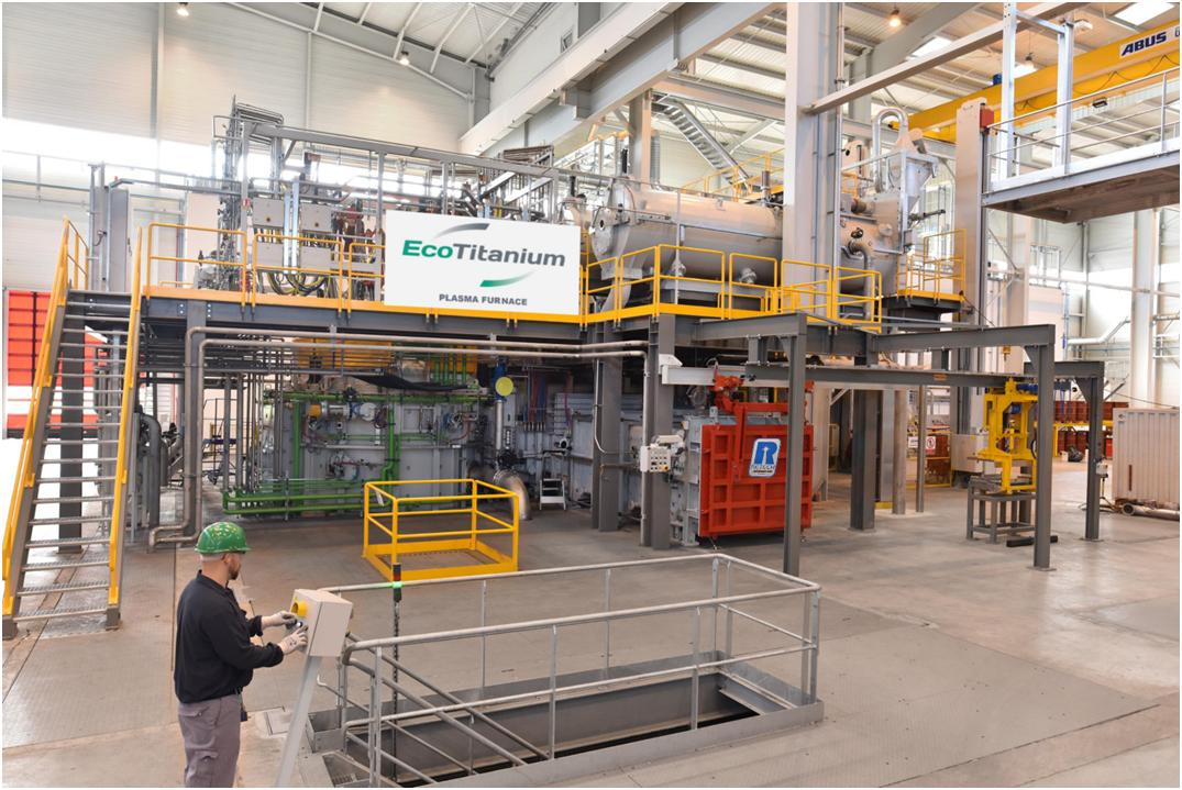 first titanium-producing plant furnace in Europe from SECO/WARWICK