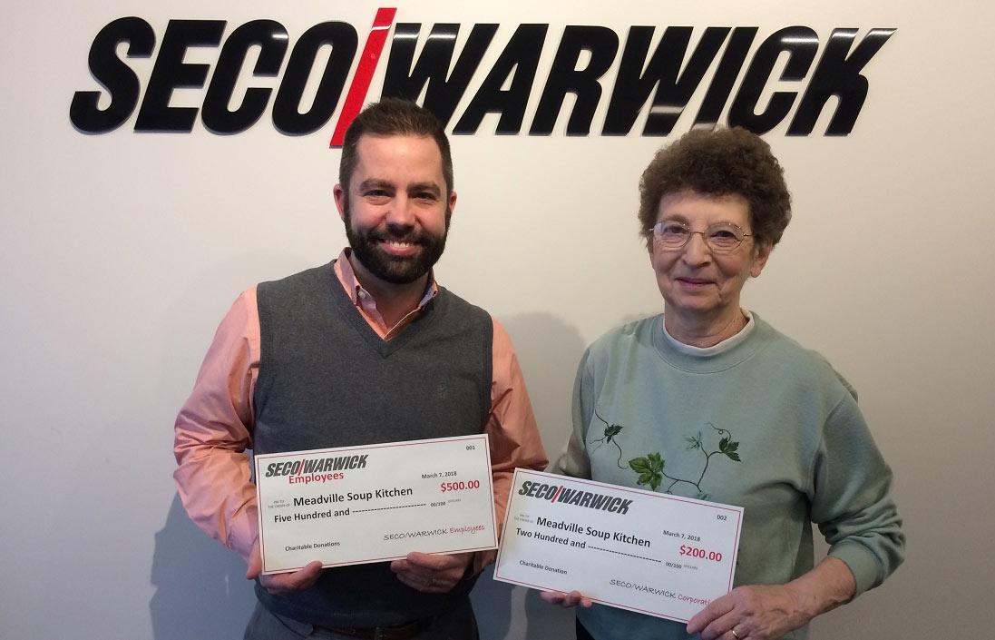 Pracownicy SECO/WARWICK w Meadville przekazują setki dolarów na rzecz lokalnej organizacji charytatywnej