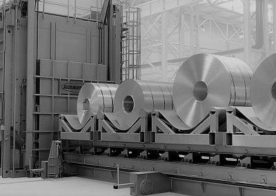 Aluminium coil annealing furnace vortex