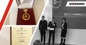 Innovations deserving of a medal: SECO/WARWICK awarded the honorary badge for meritorious performance in innovation
