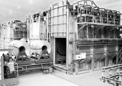 Aluminium Heat treatment coil annealing furnace Vortex for aerospace industry