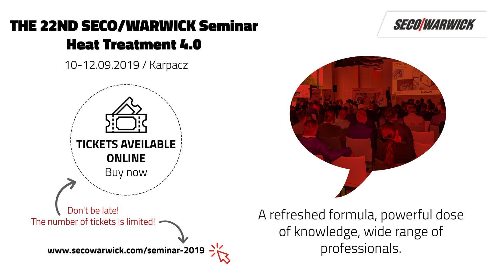 22nd Seco/Warwick Seminar Heat treatment 4.0