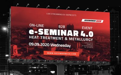 SECO/WARWICK organizes the world's first such online event – Heat Treatment 4.0 e-SEMINAR
